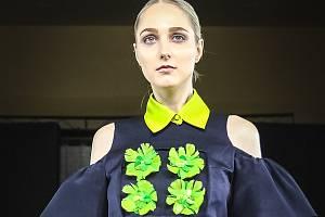Hodonínská modelka a herečka Jana Kopecká na módních přehlídkách v New Yorku.