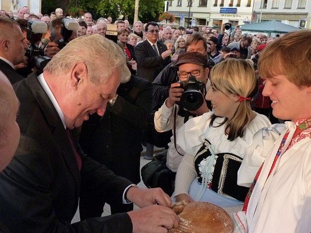 Prezident Miloš Zeman navštívil Hodonín.