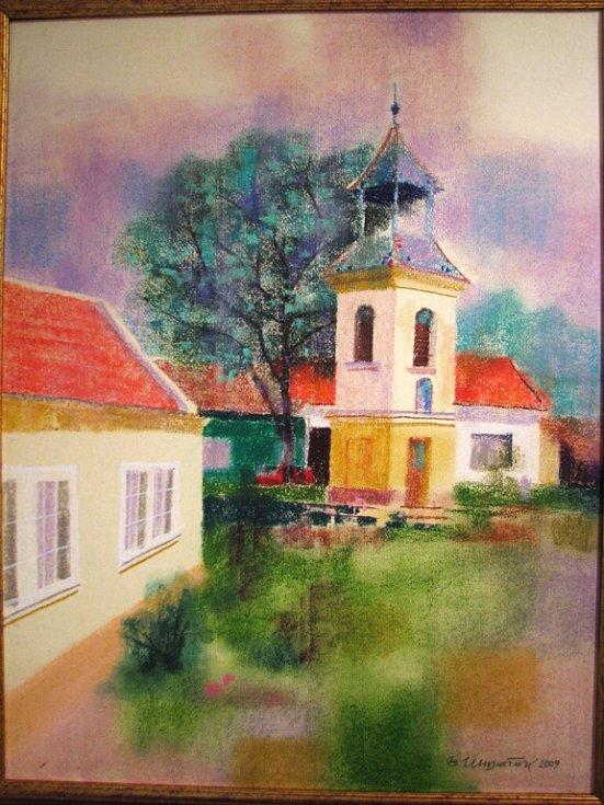 Výstavy obrazů a arttisků Zdeňka Hudečka s názvem Uměním proti krizi.