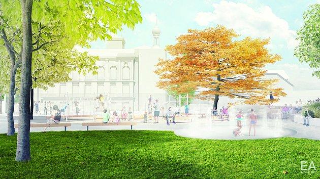Územní studie pro novou podobu parku Sadová v centru Hodonína.