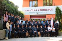 Členové sboru dobrovolných hasičů Svatobořice.
