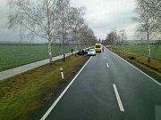 Pro řidiče po autonehodě musel dorazit vrtulník.