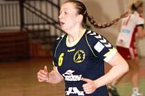 Mladá spojka Zlína Gabriela Nygrýnová si v sobotu zahrála proti matřeskému klubu.