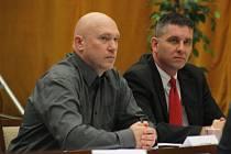 Hodonínský zastupitel Libor Malovaný (vlevo).