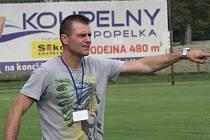 Trenér veselských fotbalistů Richard Hrotek (na snímku) nebyl po utkání ve Vyškově s výkonem mužstva spokojený.