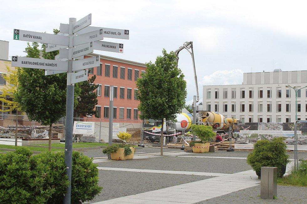 Modernizace náměstí Míru ve Veselí nad Moravou.