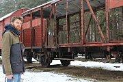 Vagon pro novou expozici v Ratíškovicích.