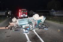 Tragická nehoda ve Velké nad Veličkou. Řidič na místě zemřel.