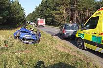 Nehoda dvou osobní aut mezi Vacenovicemi a Vracovem.