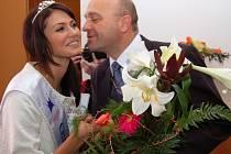 Starosta Strážnice přivítal Českou Miss 2008 Elišku Bučkovou