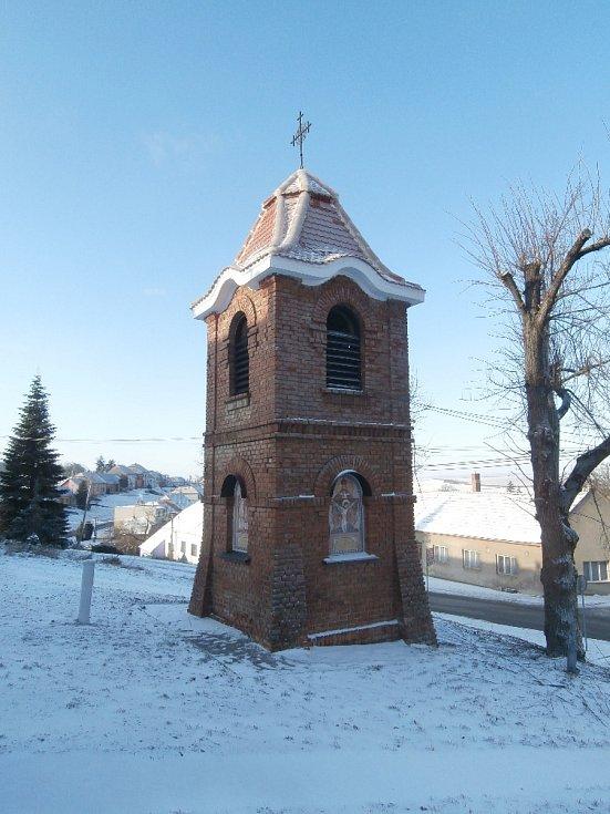 Zvonice v Nenkovicích na Hodonínsku.