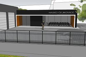 Plánovaná podoba nové hasičské zbrojnice v Čejkovicích. Zdroj: Obec Čejkovice