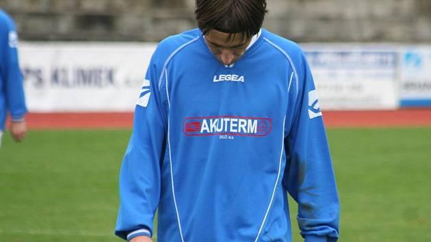 Krajský přebor: 1. FC Kyjov (v modrém) vs. RSM Hodonín