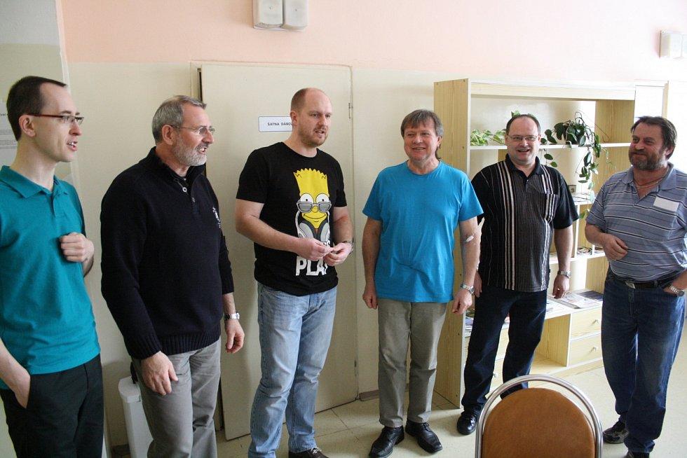 Devátý ročník akce Daruj krev s mužským sborem z Vacenovic v kyjovské nemocnici.