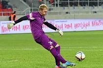Jednatřicetiletý brankář Skalice Michal Lupač si na hřišti Spartaku v Trnavě odbyl premiéru v nejvyšší slovenské fotbalové soutěži.