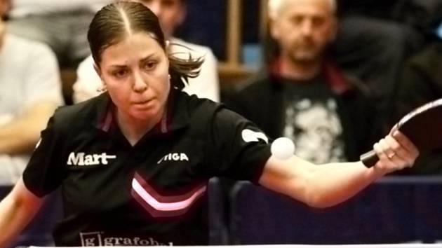 Opora Hodonína Kateřina Pěnkavová absolvovala ve finálové sérii s Břeclaví pět dvouher, ve kterých ztratila jediný set.