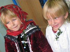 Krojované hody v hodonínské mateřské škole Pestrokvítek.