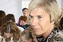 Běžkyně na lyžích Kateřina Neumannová propagovala v Hodoníně společně s dalšími známými sportovci Olympijské hry v Londýně.