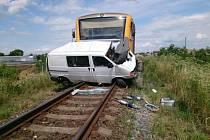 Dopravní nehoda se stala ve středu před půl druhou hodinou odpoledne na železničním přejezdu ve Strážnici.