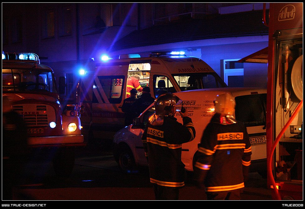 Nedělní požár na Polní ulici v Hodoníně.