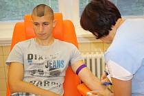 Hodonínští hokejisté darovali krev (na snímku Jakub Tomi).