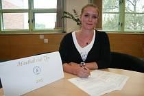 Brankářka Veselí nad Moravou Žaneta Stojarová podepsala ve Zlíně smlouvu na dva roky.