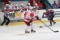 První zápas hokejového čtvrtfinále