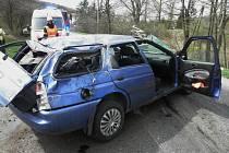 Nehoda u Velké nad Veličkou si vyžádala pět zraněných.