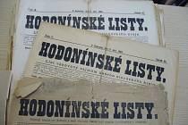 Hodonínské listy z konce devatenáctého století.