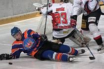 Hodonínští hokejisté vstoupili do nadstavbové části výhrou 3:2 v prodloužení.