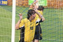 Fotbalový obránce Petr Laga.