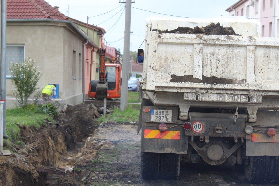 Rekonstrukce Vrchlického ulice v Kyjově.