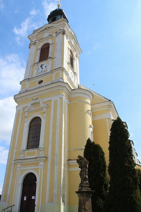 Kostel svaté Kunhuty v Čejkovicích.