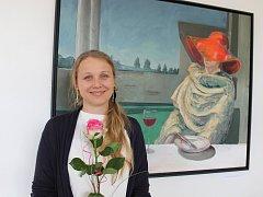 Varšavská rodačka Sylwia Svorová Pawełkowicz vystavuje obrazy vína v Dubňanech.