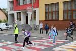 Žáci se v pondělí vrátili také do Základní školy ve Vacenovicích.