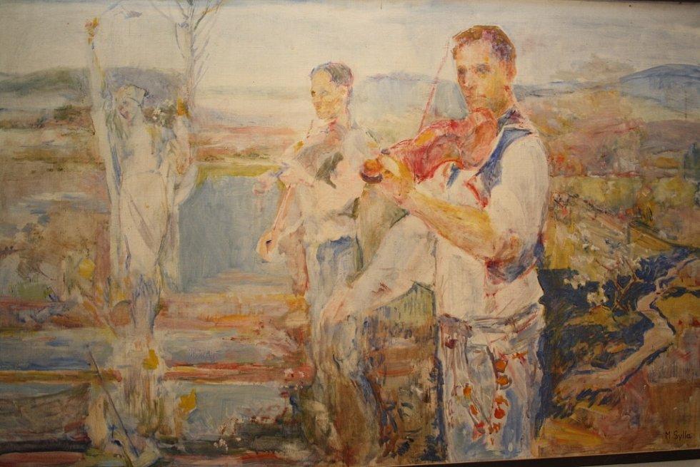 Městská galerie Panský dvůr přináší výstavu Hudci ve výtvarném projevu.