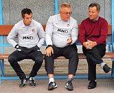 Fotbalisté Hodonína (v červených dresech) hráli v sedmém kole MSFL s brněnskou Líšní bez branek.