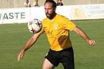 Zkušený mutěnický útočník Dalibor Koštuřík (na snímku) se proti Bučovicím střelecky neprosadil. Vinaři přesto doma zvítězili 2:0.