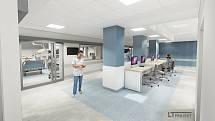 Vizualizace modernizace anesteziologicko-resuscitačního oddělení v Kyjově.
