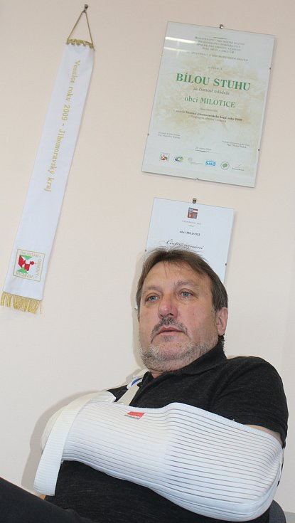 Starosta Milotic Josef Levek.