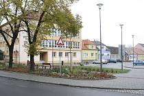 Opravený střed města ve Ždánicích.