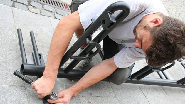 Montáž stojanu na kolo