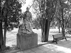 Sv. Marka lze dnes vidět ihned vedle hlavní brány hřbitova.
