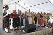 Vracovská chasa šla poděkovat hospodáři za dobrou úrodu. Letos je doprovodili i chorvatští folkloristé.