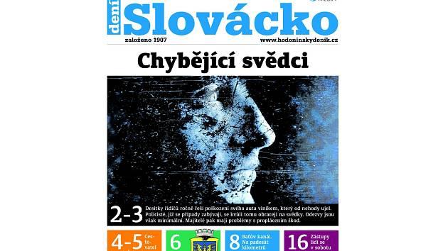 Týdeník Slovácko, který vyjde ve středu 9. května