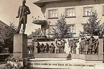 Podoba Masarykova pomíku v Hodoníně v letech 1931–1940 a 1950–1961.