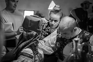 Natáčení filmu Boží muka režiséra Ondřeje Veverky.