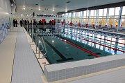 Slavnostní otevření zmodernizovaného krytého plaveckého bazénu v Hodoníně.