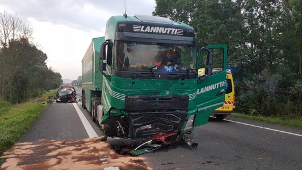 Při nehodě na Hodonínsku zahynuli v pondělí ráno čtyři lidé