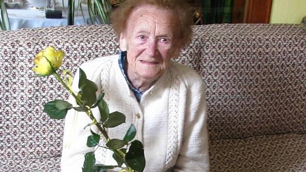 Julie Vašíčková v sobotu oslaví 107 let.